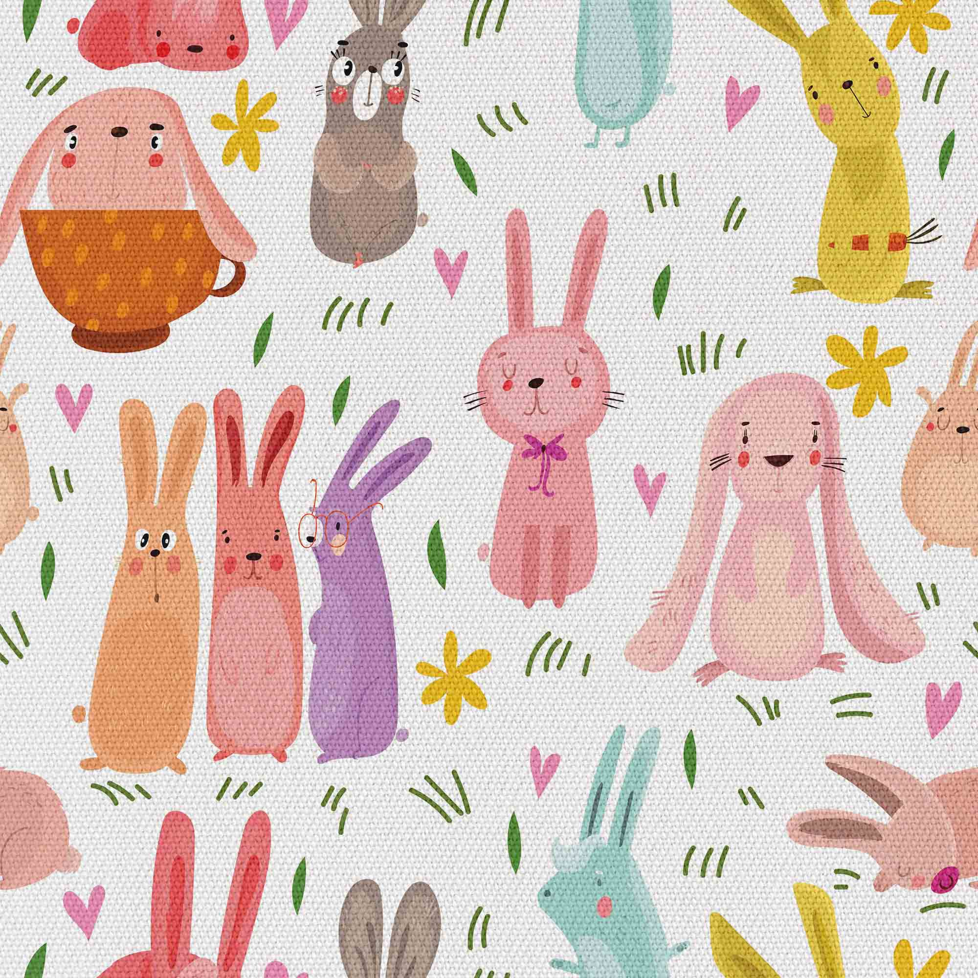 Colorful Rabbits