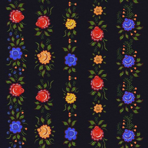 Kwiaty Na Czarnym