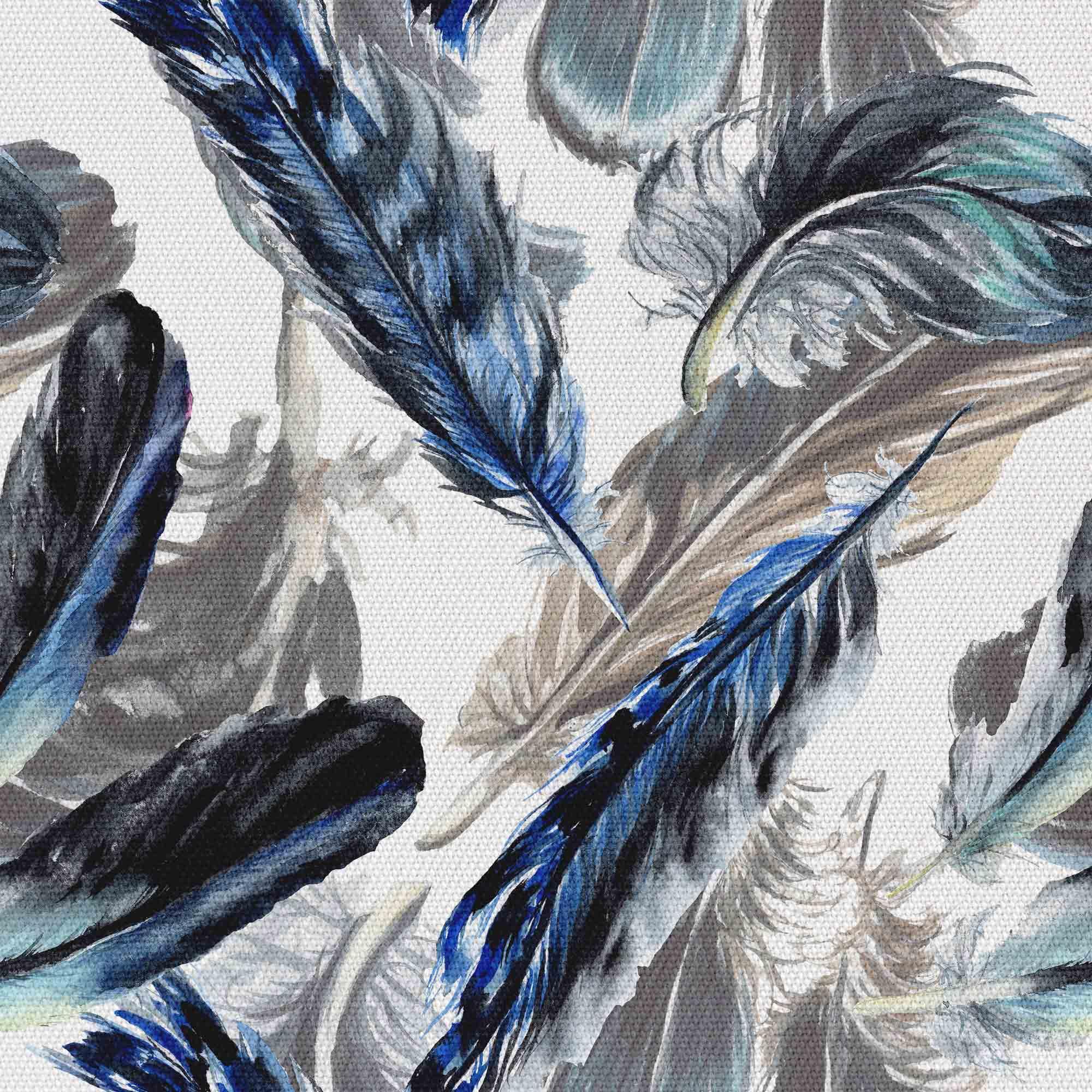 Malowane Niebieskie Pióra