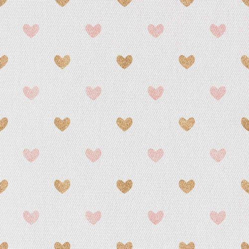 Różowo Złote Serduszka