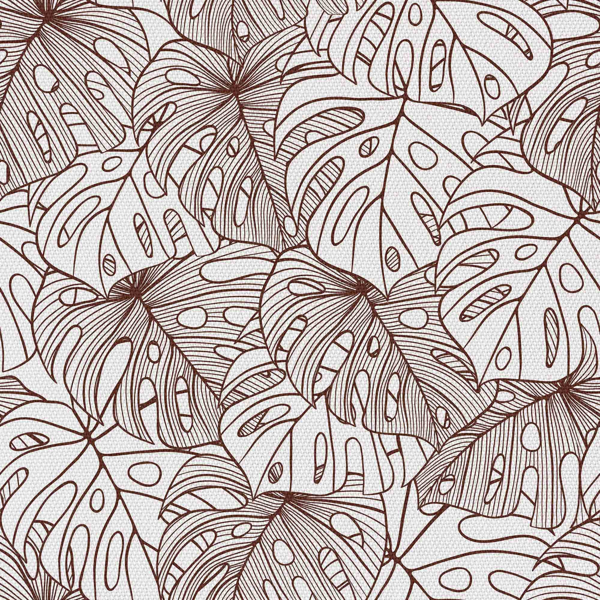 Brown Contours Of Monstera