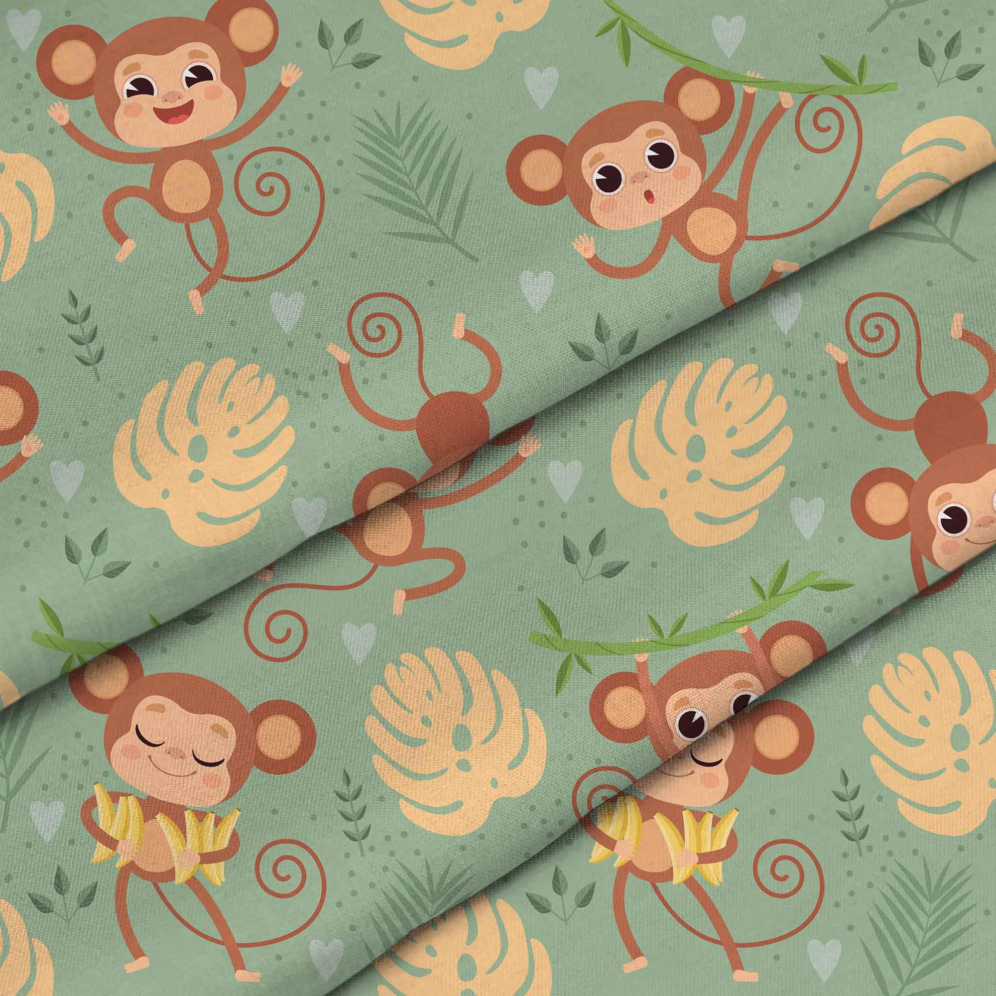 Monkey On Jungle