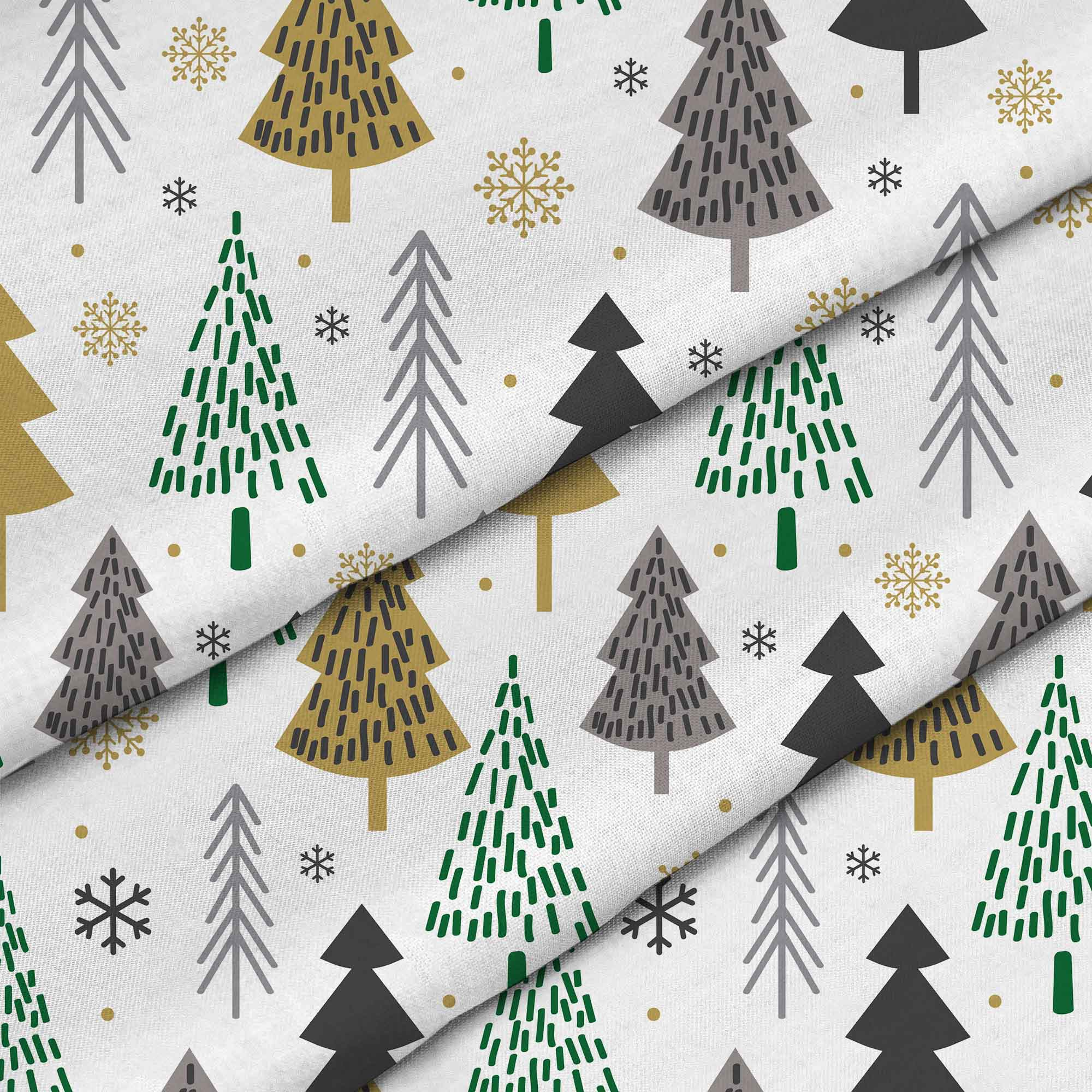 gold-and-green-christmas-trees