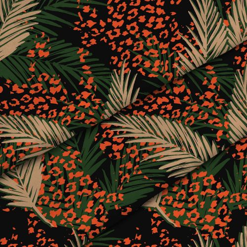 Leopard Palm Leaves