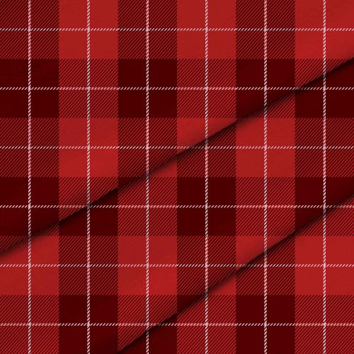 Christmas Red Checker